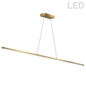 Array Aged Brass LED Pendant