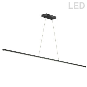 Array Matte Black LED Pendant