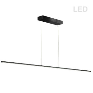 Array Matte Black LED Linear Pendant
