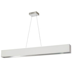 Aubrey White and Silver 51-Inch LED Linear Pendant