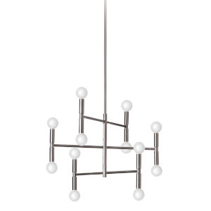 Ava Polished Chrome 21-Inch 12-Light Chandelier