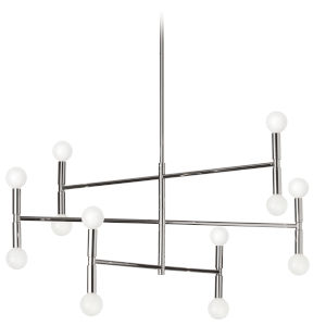 Ava Polished Chrome 31-Inch 12-Light Chandelier
