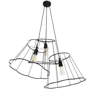 Belenko Matte Black Three-Light Pendant
