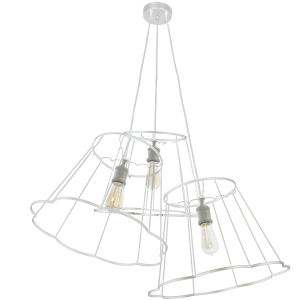 Belenko Matte White Three-Light Pendant