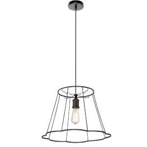Belenko Matte Black 18-Inch One-Light Pendant