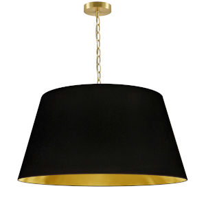 Brynn Black with Aged Brass 26-Inch One-Light Pendant