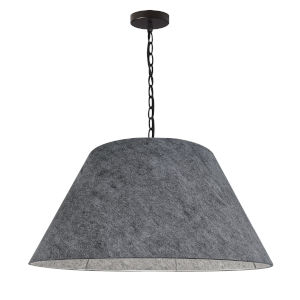 Brynn Black and Gray One-Light Large Pendant