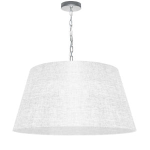 Brynn White with Polished Chrome 26-Inch One-Light Pendant with Clear Shade