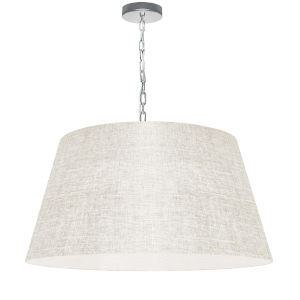 Brynn Cream with Polished Chrome 26-Inch One-Light Pendant