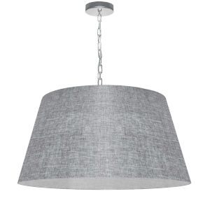 Brynn Gray with Polished Chrome 26-Inch One-Light Pendant with Clear Shade