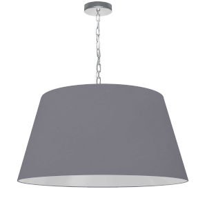 Brynn Gray with Polished Chrome 26-Inch One-Light Pendant