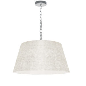 Brynn Cream with Polished Chrome 20-Inch One-Light Pendant