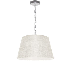 Brynn Cream with Polished Chrome 14-Inch One-Light Pendant
