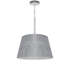 Brynn Gray with Polished Chrome 14-Inch One-Light Pendant with Clear Shade