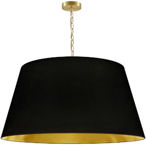 Brynn Black with Aged Brass 32-Inch One-Light Pendant