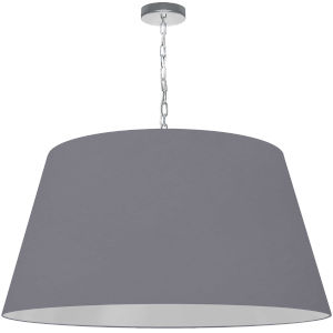 Brynn Gray with Polished Chrome 32-Inch One-Light Pendant