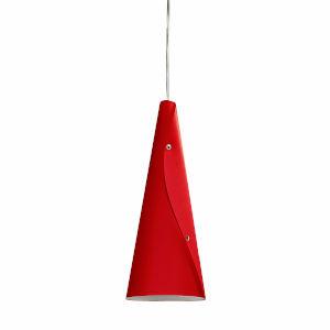 Bugle Red One-Light Mini Pendant