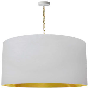 Braxton Aged Brass and White 32-Inch One-Light XL Pendant