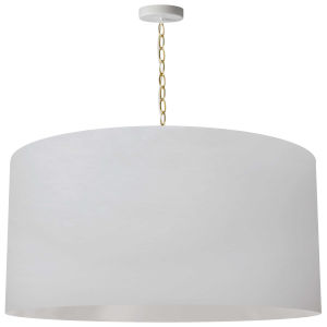 Braxton White and Aged Brass 32-Inch One-Light XL Pendant