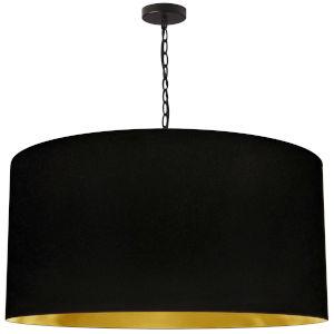 Braxton Matte Black and Gold One-Light XL Pendant