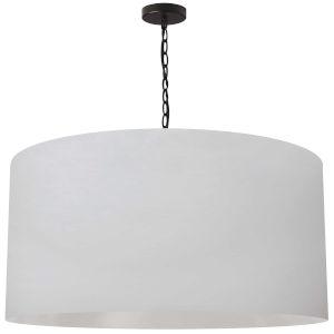 Braxton Black and White 32-Inch One-Light XL Pendant
