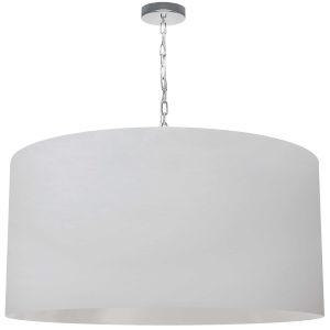 Braxton White and Polished Chrome 32-Inch One-Light XL Pendant