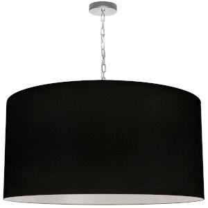 Braxton Polished Chrome and Black One-Light XL Pendant