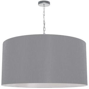 Braxton Polished Chrome and Gray One-Light XL Pendant