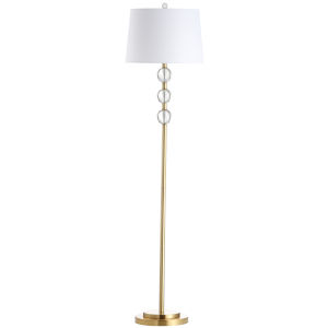 Rose Aged Brass with Clear One-Light Floor Lamp