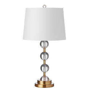 Clear with Aged Brass One-Light Table Lamp