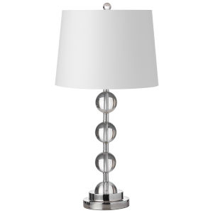 Clear with Polished Chrome 14-Inch One-Light Table Lamp