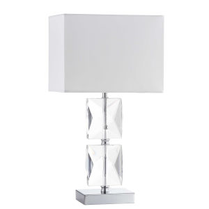 Clear with Polished Chrome 10-Inch One-Light Table Lamp