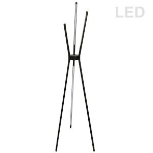 Cerena Black Four-Light LED Floor Lamp