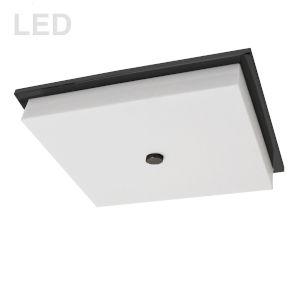 Morgan Matte Black with White LED Flush Mount