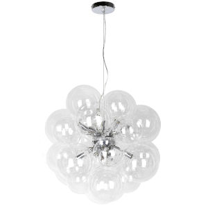 Comet Clear with Polished Chrome Six-Light Pendant