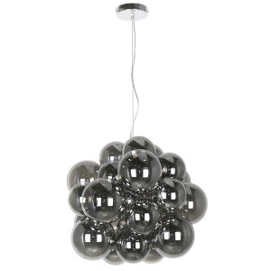 Comet Smoke with Polished Chrome Six-Light Pendant