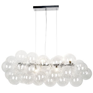 Comet Polished Chrome with Clear 10-Light Pendant