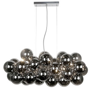 Comet Polished Chrome with Smoke 10-Light Pendant