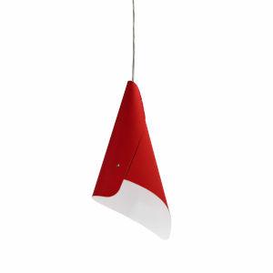 Cone Red One-Light Mini Pendant
