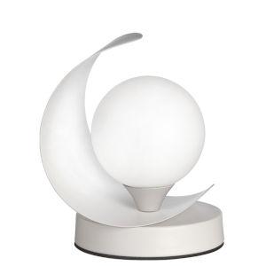 Crescent Matte White One-Light Table Lamp