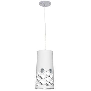 Cutouts White with Polished Chrome One-Light Mini Pendant