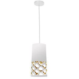 Cutouts White with Gold One-Light Mini Pendant