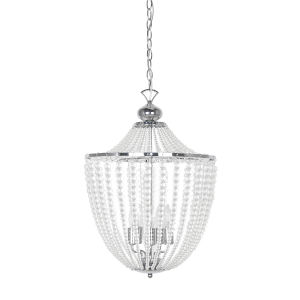 Dawson Clear with Polished Chrome Five-Light Chandelier