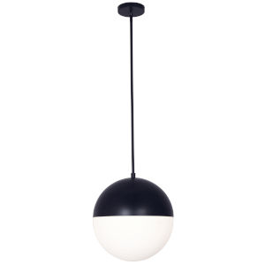 Dayana Matte Black with White Three-Light Pendant