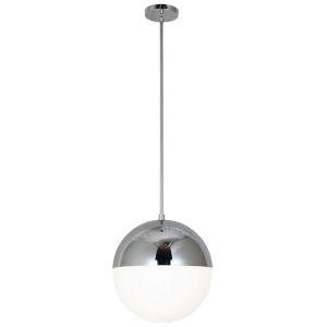 Dayana Polished Chrome with White Three-Light Pendant