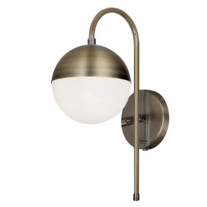 Dayana Antique Brass with White One-Light Wall Sconce