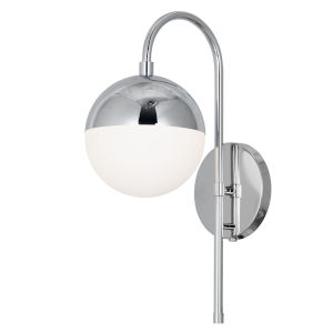Dayana Polished Chrome with White One-Light Wall Sconce