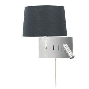 Morgan Satin Chrome with White LED Wall Sconce