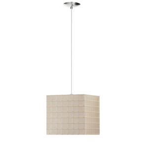 Dpend Beige with Polished Chrome One-Light Mini Pendant