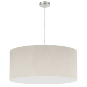 Beige with Polished Chrome 28-Inch One-Light Pendant